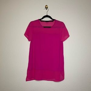 Vince Camuto Pink Mesh Short Sleeve Shirt